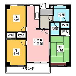 エクセルヤマキ[7階]の間取り