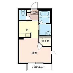 シャーメゾンT[2階]の間取り