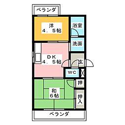 トレンツマンション[3階]の間取り