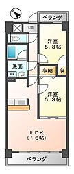 クレアートノムラ(CREART NOMURA[3階]の間取り