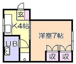 塚本ビル[3階]の間取り