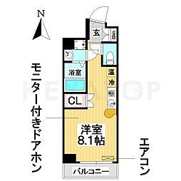 愛知県名古屋市瑞穂区亀城町5丁目の賃貸マンションの間取り