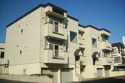 北海道札幌市西区発寒十二条3丁目の賃貸アパートの外観