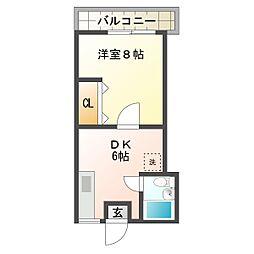 川崎ビル[302号室]の間取り
