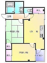 Rinon東山本新町[1階]の間取り
