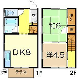 [テラスハウス] 神奈川県横浜市港南区大久保2丁目 の賃貸【/】の間取り