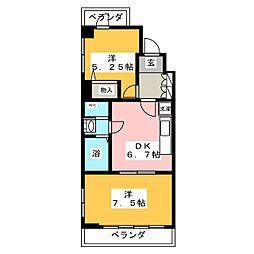 サクシード水の[5階]の間取り