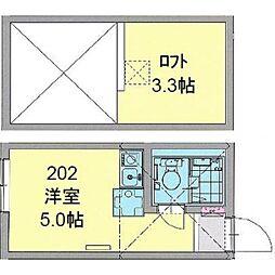 カパルアガーデン横浜反町[0202号室]の間取り