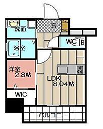 THE HILLS KOKURA[401号室]の間取り