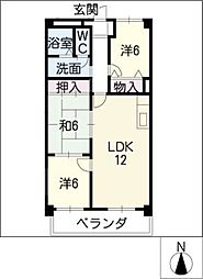 プレシオン猫洞[2階]の間取り