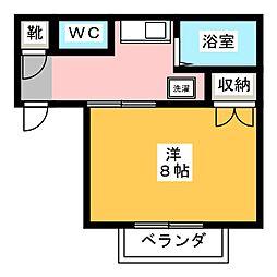 プレジール天王台[2階]の間取り