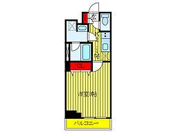 JR京浜東北・根岸線 王子駅 徒歩9分の賃貸マンション 5階1Kの間取り