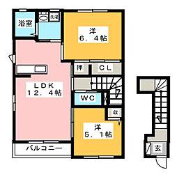 サンハイムYOSHIBA A棟[2階]の間取り