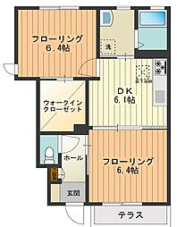サンシャインエスII[1階]の間取り