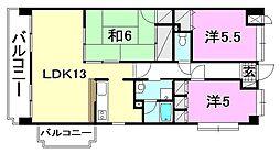コサ−ジュ衣山[603 号室号室]の間取り