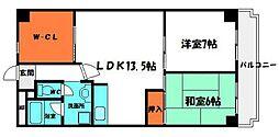 リコーハイム 1階2LDKの間取り