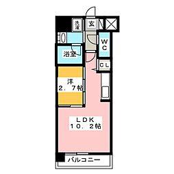 ウェルブライト美野島[7階]の間取り