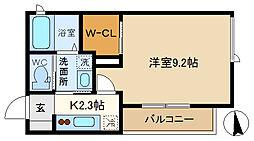 (仮称)越谷市千間台東シャーメゾン 201[2階]の間取り