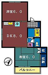YOUNGハウス5[101号室]の間取り