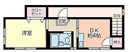 福寿荘[2階号室]の間取り