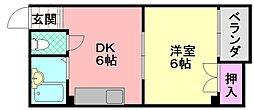 エースマンションC棟[301号室]の間取り