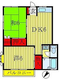 千葉県松戸市紙敷の賃貸アパートの間取り