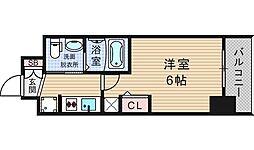 大阪府大阪市浪速区立葉1丁目の賃貸マンションの間取り
