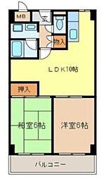 城南マンション2[3階]の間取り