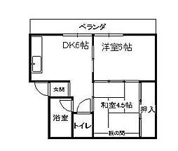 福岡県北九州市戸畑区西大谷1丁目の賃貸マンションの間取り