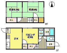 [テラスハウス] 大阪府箕面市坊島3丁目 の賃貸【/】の間取り