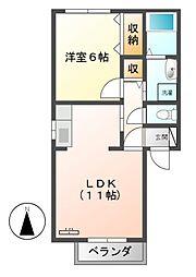 マナーハウスA・B[2階]の間取り