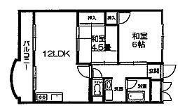 岡崎グランドハイツ[305号室]の間取り