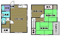 [一戸建] 大阪府河内長野市古野町 の賃貸【/】の間取り