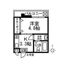 吉川屋ビル[4階]の間取り
