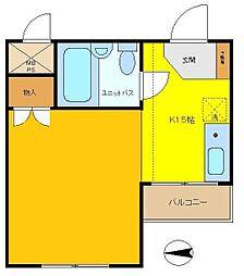 日興パレス多摩川[1階]の間取り