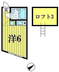 ニューコートくぬぎ山[2階]の間取り