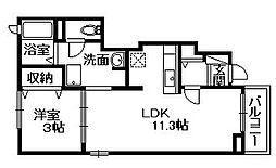 オリーブガーデン[1階]の間取り