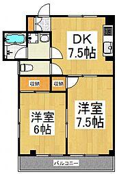 ハウスTM[1階]の間取り