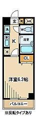 東京都府中市寿町3丁目の賃貸マンションの間取り