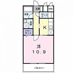 ウエストワン東大阪[6階]の間取り