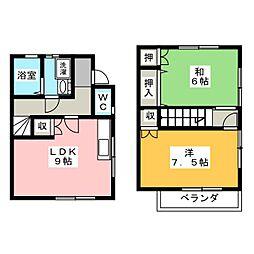 [テラスハウス] 静岡県浜松市西区大平台2丁目 の賃貸【/】の間取り