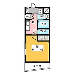 sky city元浜[1階]の間取り