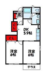 ガイアヒル2002[2階]の間取り
