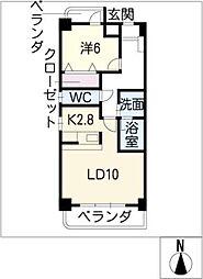 Blau・Berq[3階]の間取り