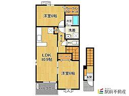 サン ラークII[2階]の間取り