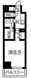 名鉄名古屋本線 名鉄名古屋駅 徒歩12分の賃貸マンション 7階1Kの間取り