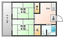 若鶴マンション[4階]の間取り
