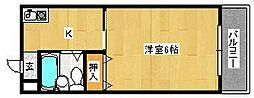 サンロワール北野田[3階]の間取り