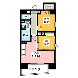 サンエスケーイワタ名城[9階]の間取り