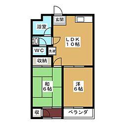 グレートハイツ[2階]の間取り